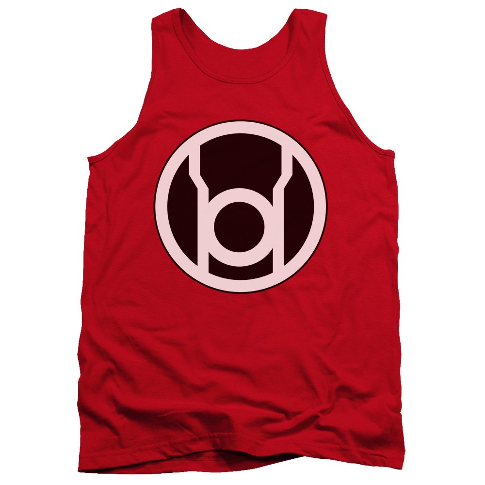 Green Lantern DC Comics Red Lantern Logo Adult Tank Top Shirt Trevco