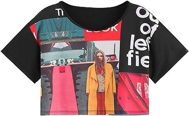 Camiseta de Mujer, Camisas Verano Moda Casual T-Shirt Blusas ...