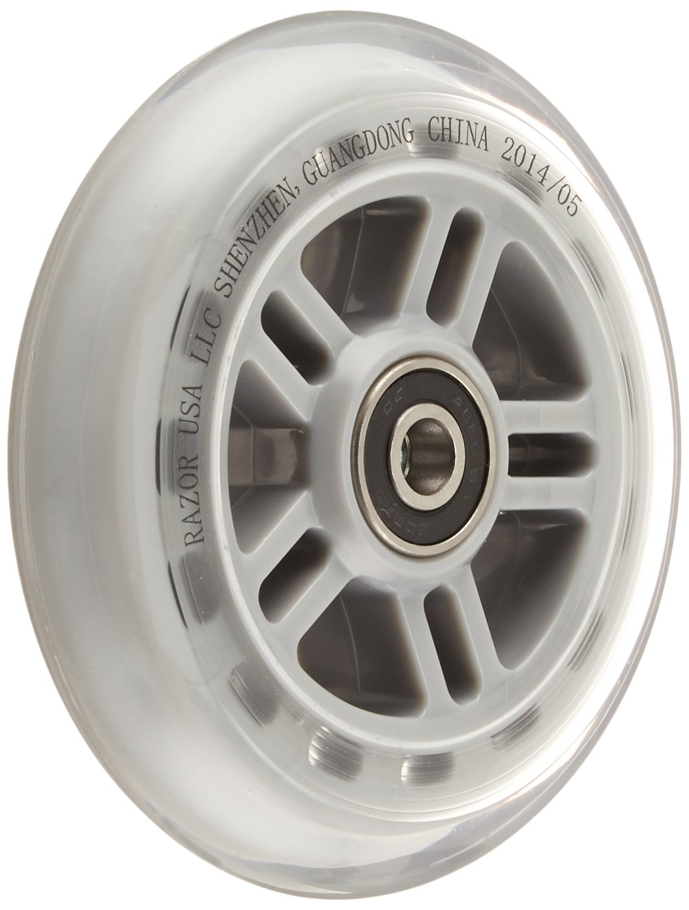 Razor Scooter Replacement Wheels Set with Bearings - Clear by Razor