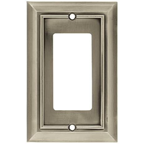 Brainerd 64176 Architectural Collection Single Decorator Wall Plate, Satin  Nickel