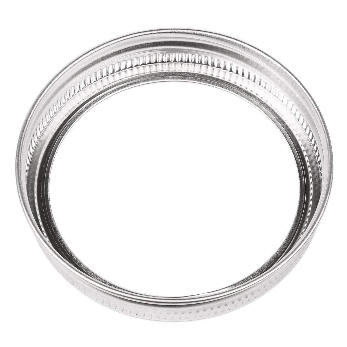 Mason Jar Replacement Rings or Tops Durable /& Rustproof Tinplate Metal Bands//Rings for Mason Jar Set of 10 wide mouth Canning Jars,Storage Ball Jar