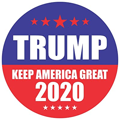"PARTH IMPEX Trump 2020 Stickers Seals Labels (Pack of 120) 2"" Large Round Keep America Great for President Election Patriotic Republican Bumper Hard Hat Decals: Automotive"