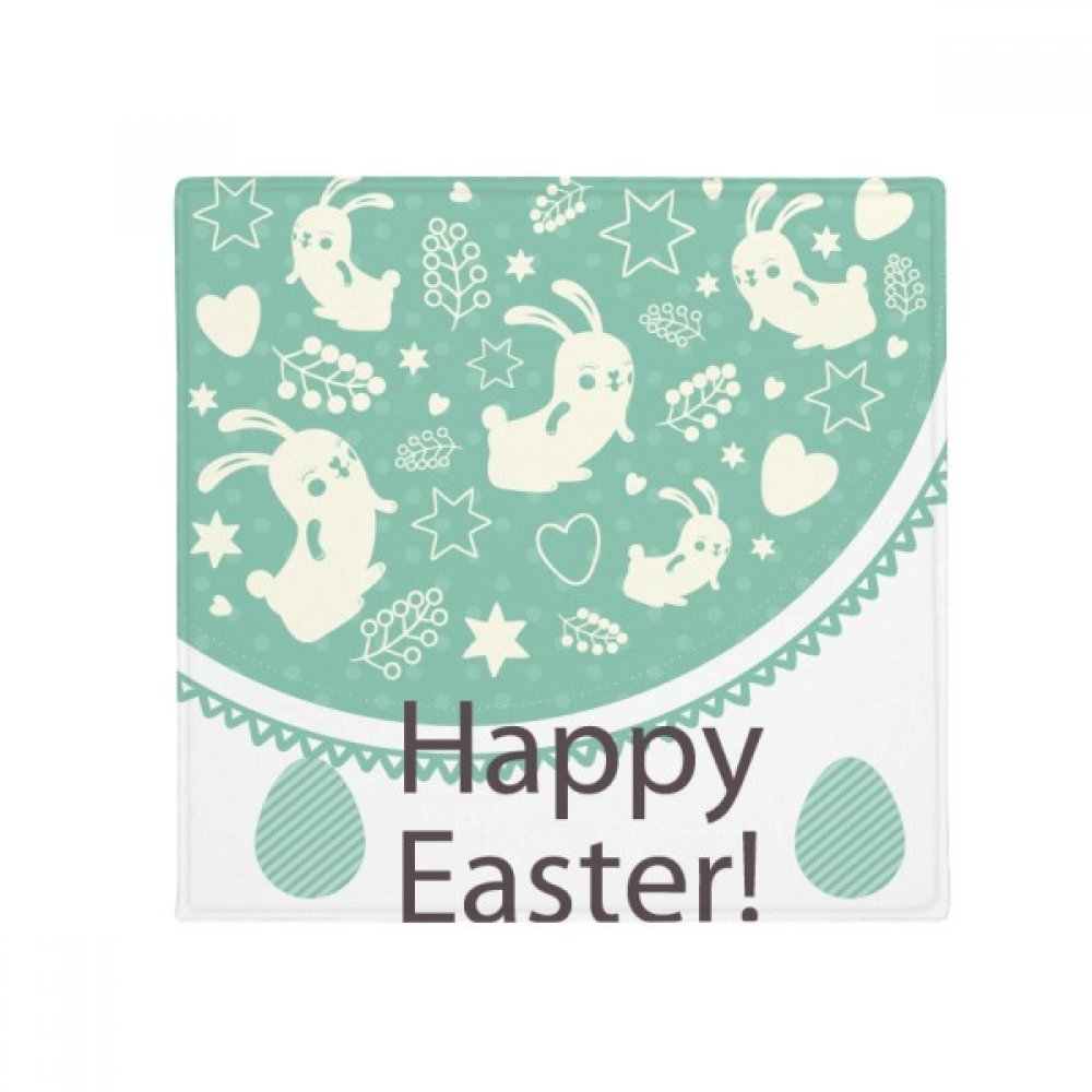 DIYthinker Happy Easter Day Green colord Egg Bunny Anti-Slip Floor Pet Mat Square Home Kitchen Door 80Cm Gift