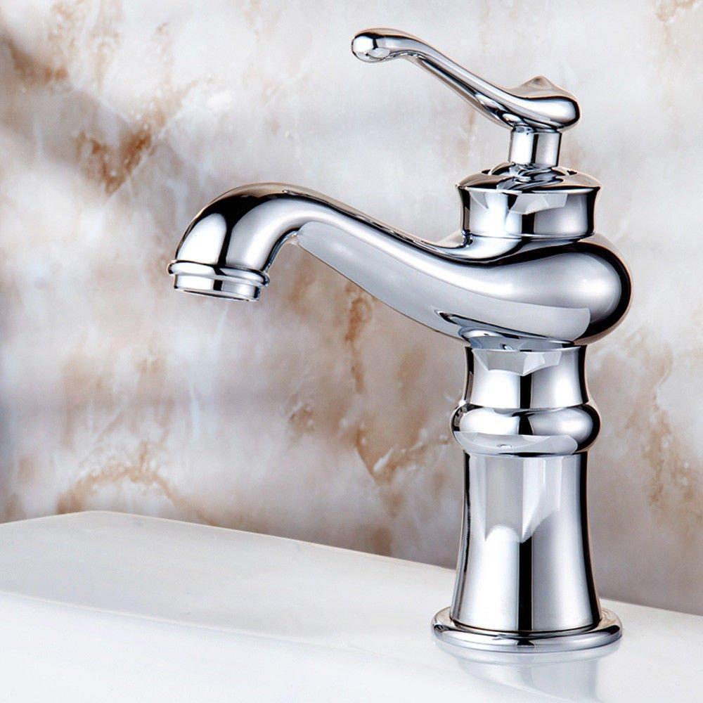 NewBorn Faucet Küche oder Badezimmer Waschbecken Mischbatterie Wasserhahn Bronze Antik Split Three Wasser Antike Antike Tippen