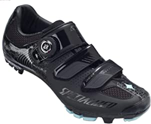 SPECIALIZED Cascade XC Womens MTB Shoe Black/Teal 37 EU/ 6.5 US