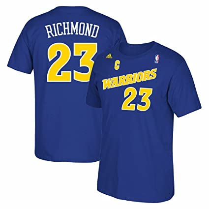 Golden State Warriors Mitch Richmond Throwback Adidas Royal Blue Shirt ( Small) d2e01070f