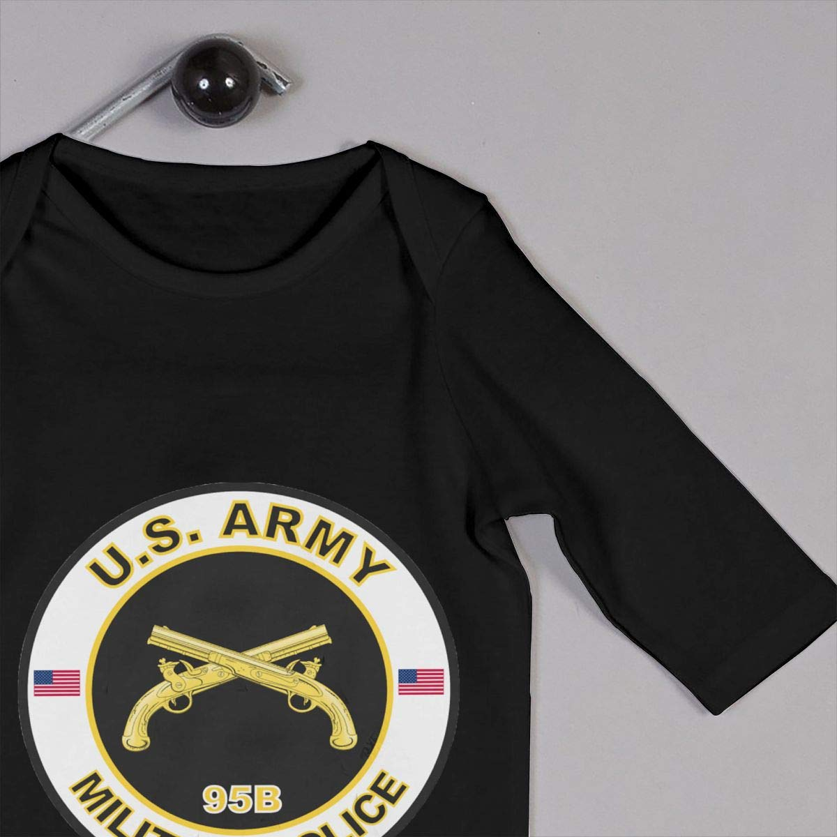 United States Army MOS 95B Military Police Newborn Baby Long Sleeve Bodysuits Rompers Outfits