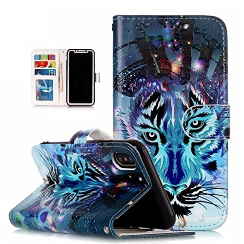 Galaxy J2 Prime Case,Galaxy G532 Case,Samsung Galaxy G532/J2 Flip Case with Magnetic Closure Built-in Credit Card Slot (Pattern-1)