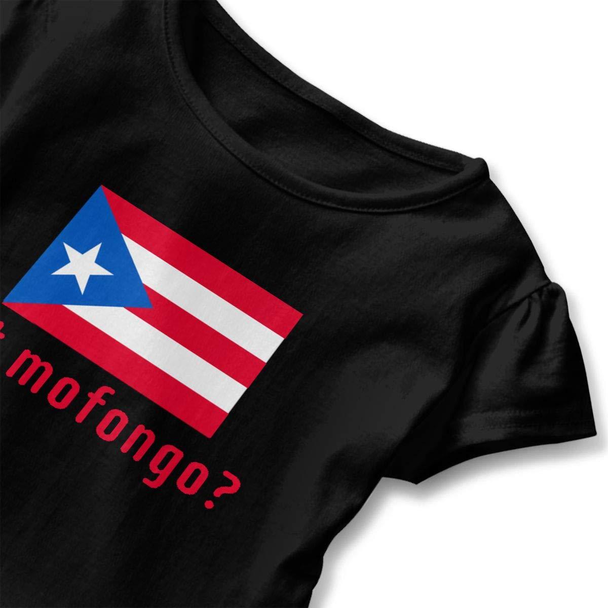 JVNSS Got Mofongo Puerto Rican Flag T-Shirt Baby Girl Flounced T Shirts Fashion Outfits for 2-6T Kids Girls