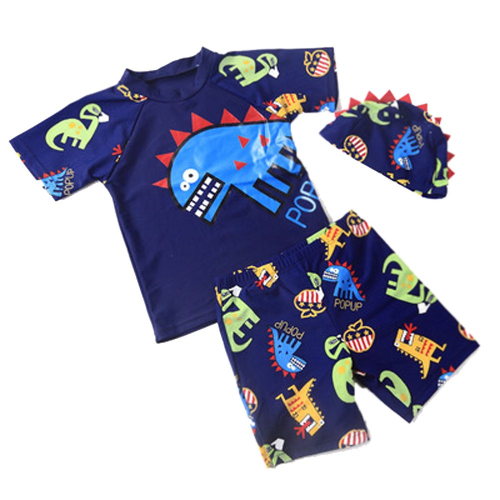 Boys Dinosaur Park Sunscreen Swimsuit