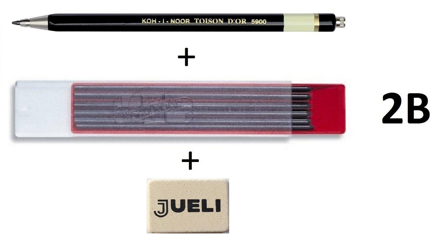 Rot Koh-I-Noor Fallminen /Ø 2 mm Druckbleistift kurz