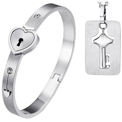 Amazon.com: Oidea - Collar con colgante de corazón con ...