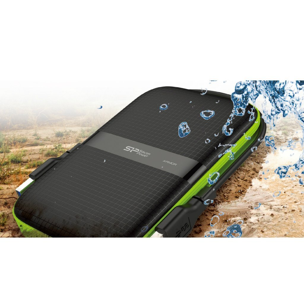 Silicon Power 4TB Rugged Portable External Hard Drive Armor A60, Shockproof USB 3.1 Gen 1 for PC, Mac, Xbox and PS4, Black by SP Silicon Power (Image #3)