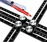UPGRADED Metal Multi Angle Measuring Ruler is made of premium alluminum alloy, including the screw caps and the built-in galvanized iron bolts.Perfect for Any DIY Project