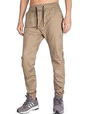 I.TALYMORN Men's Chino Jogger Casual Pant Slim Fit