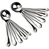 Large Stainless Steel Restaurant & Hotel Quality Round Soup Spoons, Large Soup Spoons, Set of 10