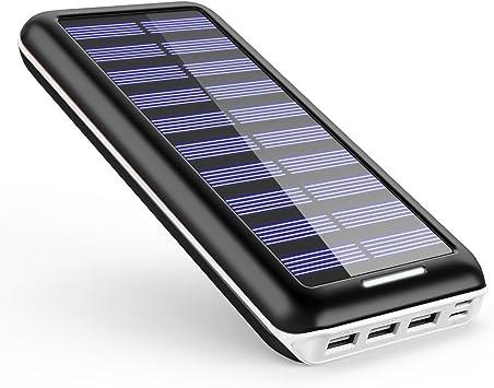Batería externa AKEEM 22000mAh Cargador Solar,3 puertos USB ...