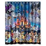 "LOVELIFE Disney Polyester & Waterproof Fabric Curtain (with hooks & holes) Custom Shower Curtain 60"" x 72"""