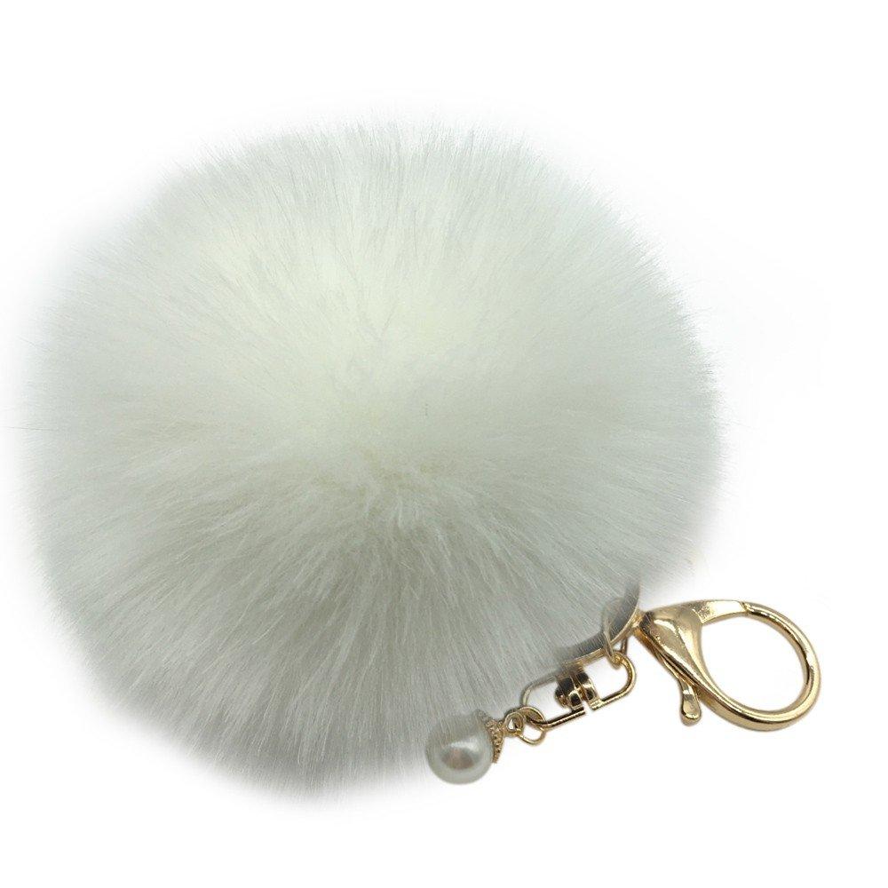 Amazon.com  Sikye Faux Fur Pom Pom Keychain for Handbag Decoration ... e7c163c90
