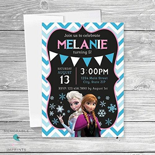 Amazon Frozen Birthday Invitations