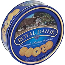 Royal Dansk 40635 Danish Butter Cookies, Reusable Tin, 12 oz
