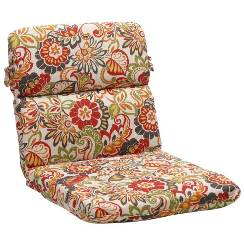 Pillow Perfect Indoor/Outdoor Multicolored Floral Chair Roun
