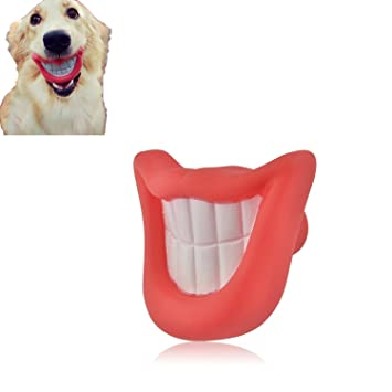 hapurs puppy dog toys big red lip rubber toy dog toy lips for pet dogs with