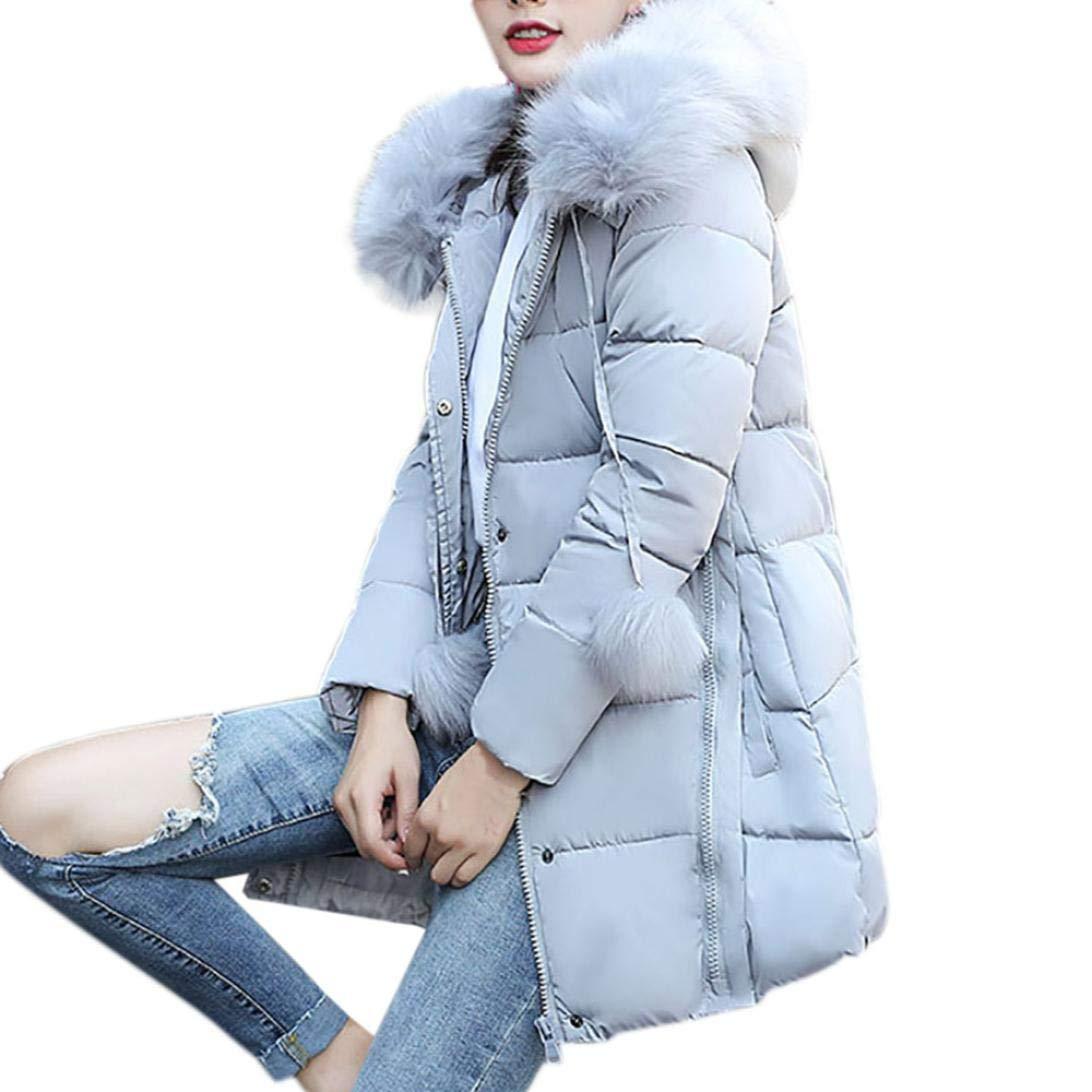 Pandaie Jacket,Women Solid Thicker Winter Slim Down Lammy Jacket Hair Collar Coat Overcoat