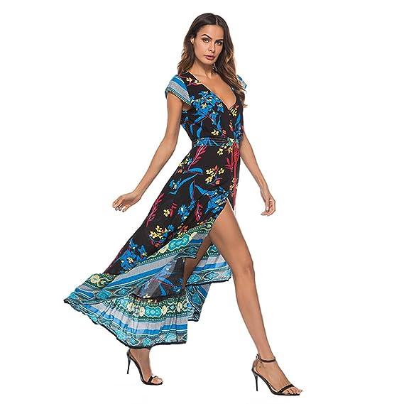 ONEFENG Mujer Vestidos Largos De Verano Vestidos Largos Tallas Grandes, Boho Flamenca Vestidos Boho Ropa Barato Vestidos Largos De Verano XXL: Amazon.es: ...
