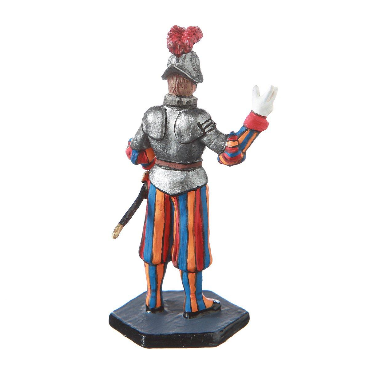 danila-souvenirs Tin Toy Soldier Vatican Swiss Guard Private Hand Painted Metal Sculpture Miniature Figurine 54mm #14.68