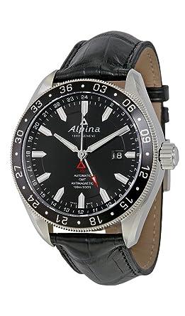 Amazoncom Alpina Alpiner GMT Automatic Dual Time Zone Steel Mens - Alpina gmt
