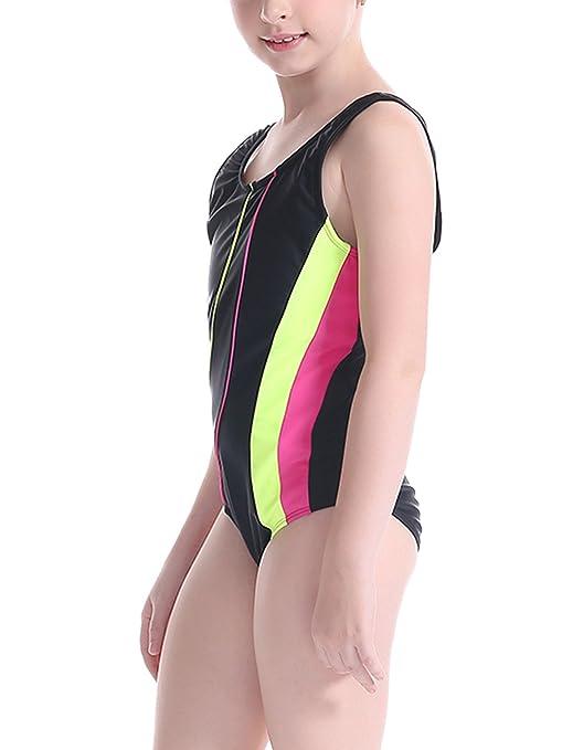 d6d013791f39 bañadores Trajes de una pieza Niña niños deporte acuático traje de baño  para niños de 5