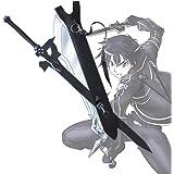 Espada De Arte En línea Kirito Negro Espada Prop (Madera