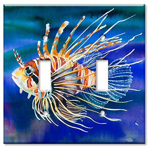 Fish Switchplate Cover - Art Plates Brand Double Toggle Switch/Wall Plate - Clown Fish