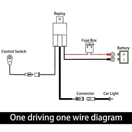 amazon com uxcell 10ft 40a 12v led work fog light bar wiring rh amazon com 12V LED Wiring Diagram LED Lights AC Wiring-Diagram