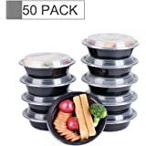 Glotoch Bento Box, 16 Ounce Wholesale 1 Compartment Food Storage Containers for Meal Prep-Microwave, Freezer & Dishwasher Safe - Eco Friendly Oven Safe Food Container, Pack of 50