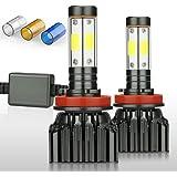 ZDATT H11 H8 H9 Led Headlight Bulbs 100W 12000 Lumens Low Beam, Fog Lights, 4 Sides High Beam Lighting Lamps 200…