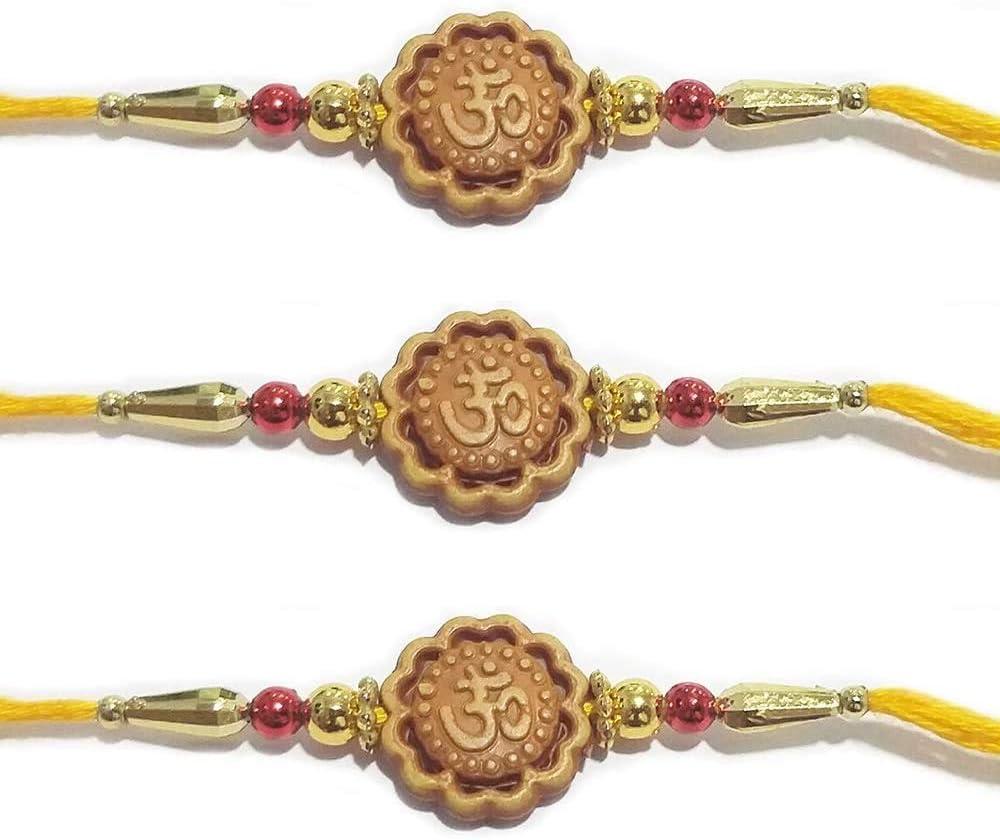 WhopperIndia Set of 3 Rakhi Thread for Brother Bhaiya for Rakshabandhan Rakhee Bracelet