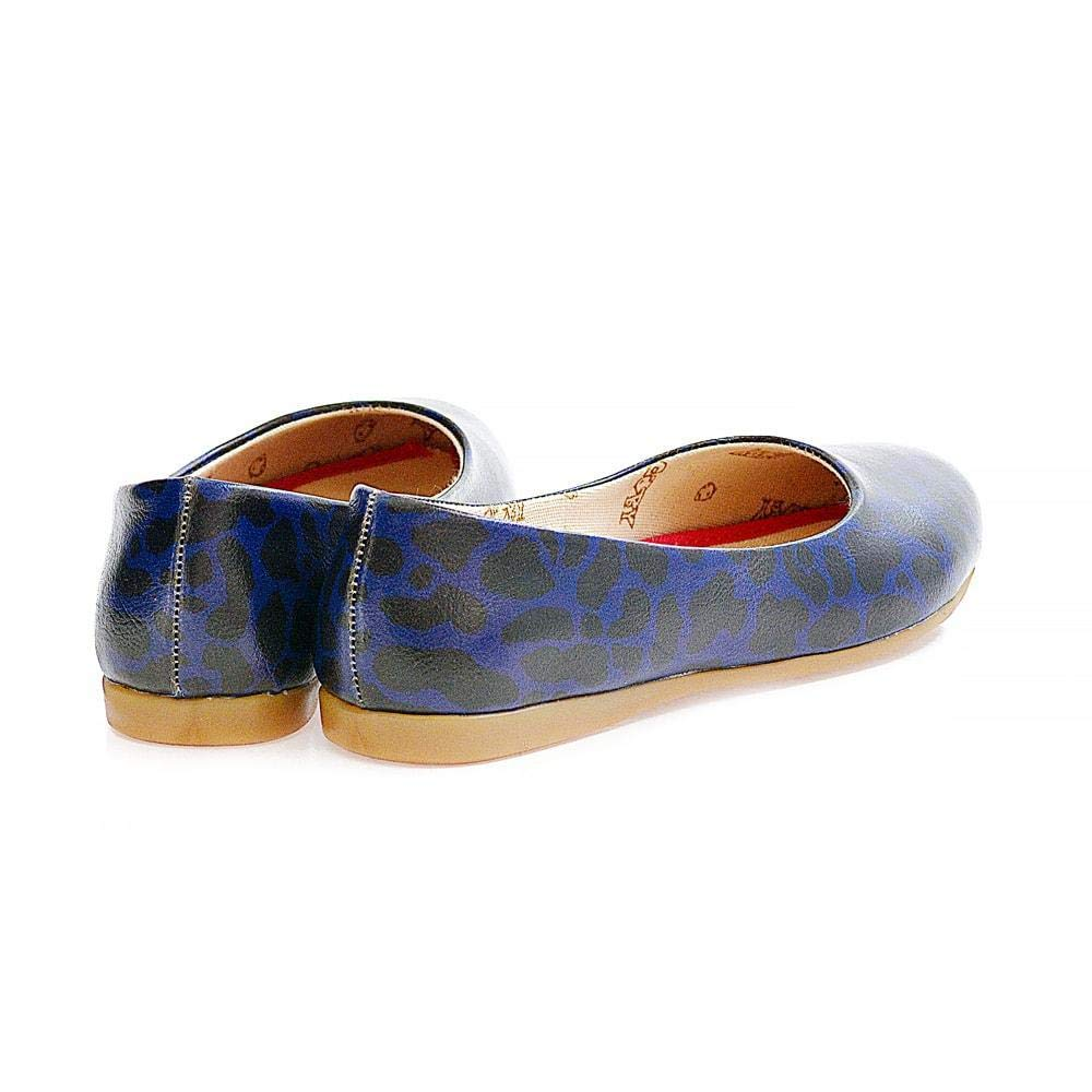 Goby Blue Leopard Ballerinas Shoes 2003