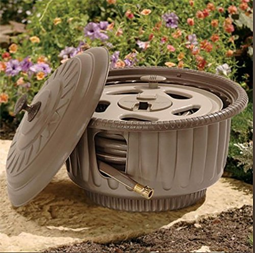 Suncast 50-Foot Capacity Garden Hose Reel Pot HRP60B - Colors Vary