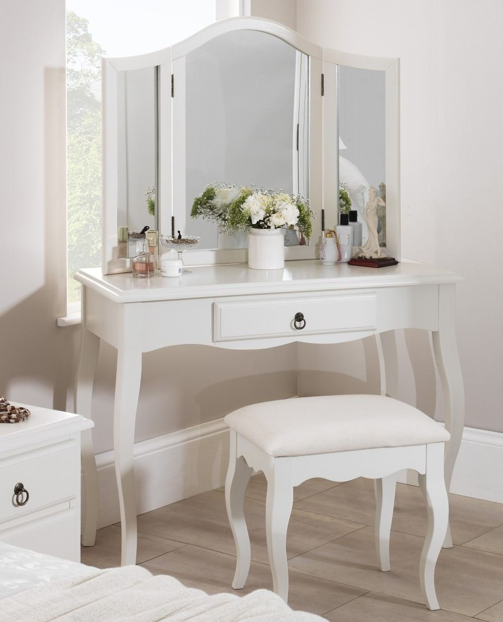 Romance Antique White Dressing Table Only French Dressing Table