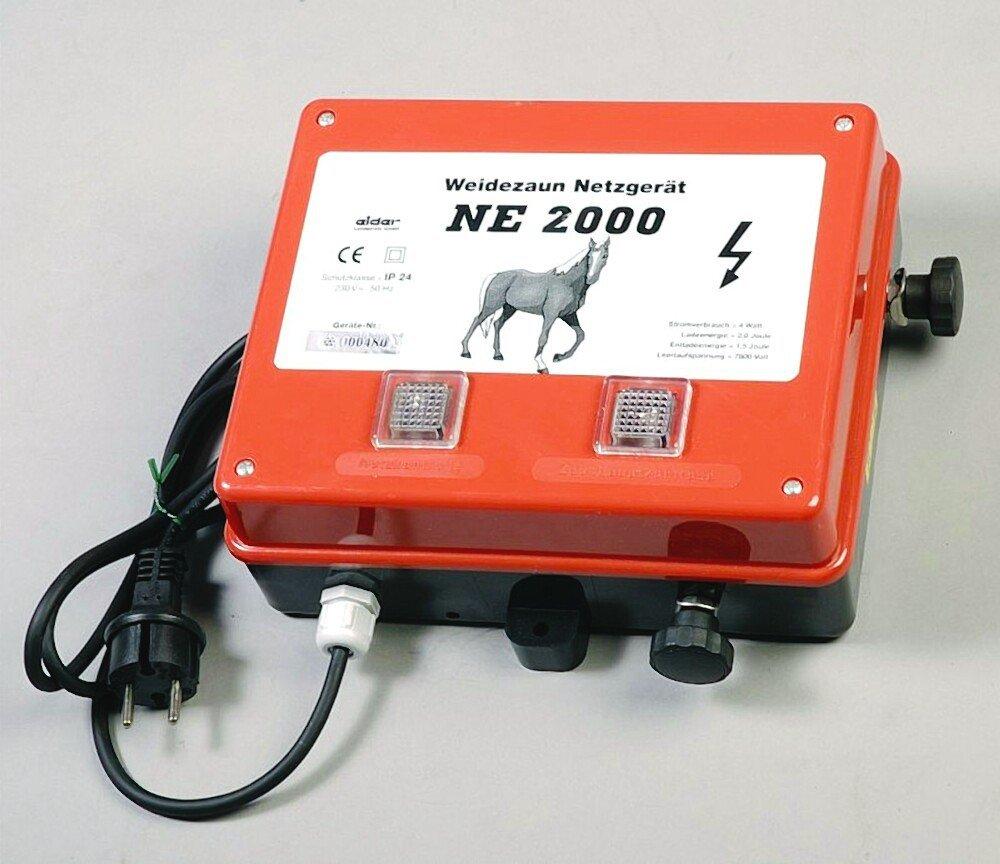 Weidezaungerät NE2000 Netzgerät 230 Volt Weidezaun Rot