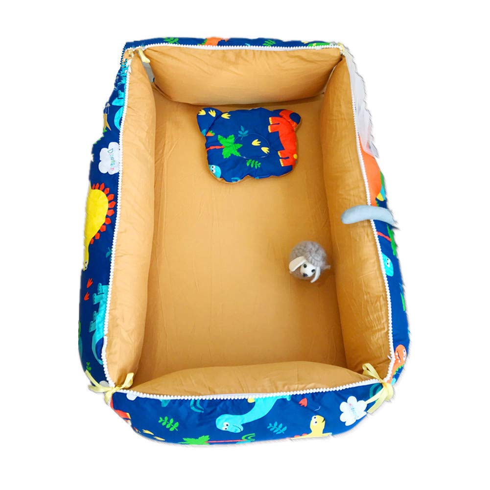 Eanpet Portable Travel Infant Bed Removable Baby Lounger Breathable Bassinet Newborn Cocoon Snuggle Bed for Co-Sleeping Crib Bassinet 4x5.2 FT Navy