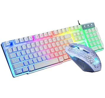Love life Combinación de Teclado y ratón para Juegos, Adecuada para PC, Teclado mecánico