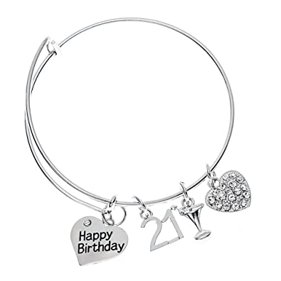 Buy Infinity Collection 21st Birthday Gifts For Her Expandable Charm Bracelet Adjustable Bangle Perfect Gift Ideas Online At