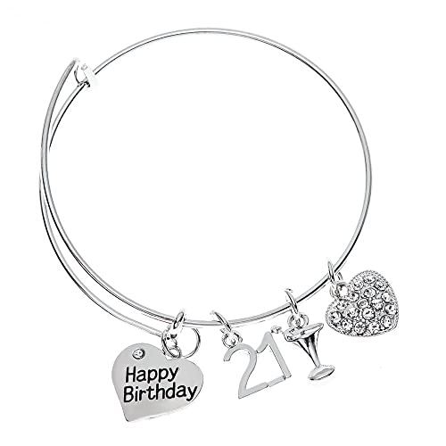 Infinity Collection 21st Birthday Gifts For Her Expandable Charm Bracelet Adjustable Bangle