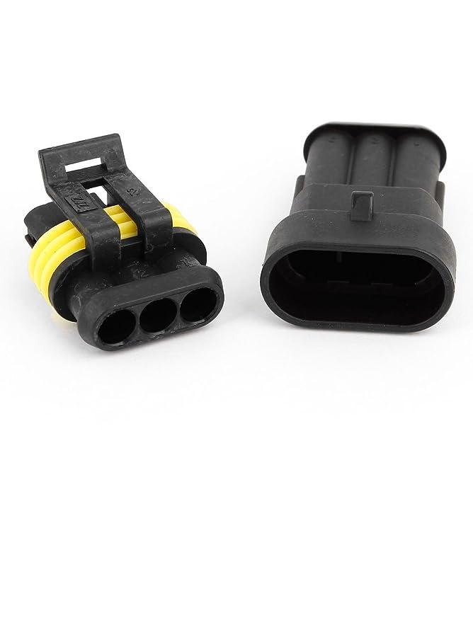 Amazon.com: eDealMax 2 Set 3 Polo impermeable DE 3 vías Conector Para el coche: Car Electronics