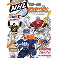NHL All Stars 2018-19: The Ultimate Hockey Coloring Book for Adults and Kids