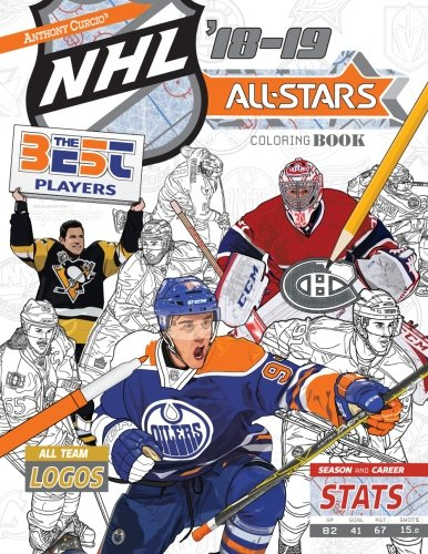 NHL All Stars 2018-19: The Ultimate Hockey Coloring
