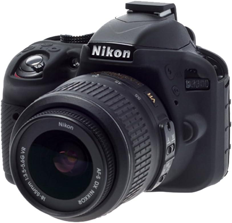 Easycover ECND3300B - Funda de Silicona para Nikon D3300, Color ...